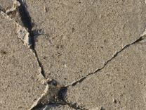 A concrete crack in one of our customer's driveway in Irving, TX.